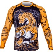 Рашгард Venum Tiger L/S Black/Orange